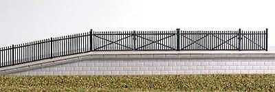 Ratio 246 GWR Black Spear Fencing and Gates (N gauge plastic kit)