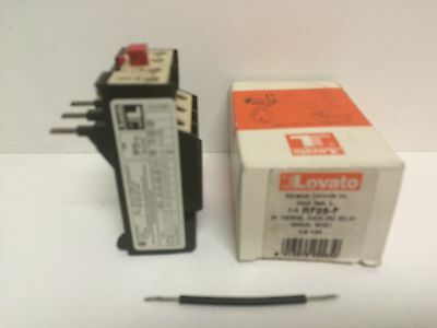 New Old Stock! Lovato 3P Thermal Overload Relay Rf25-F 0.9A-1.5A