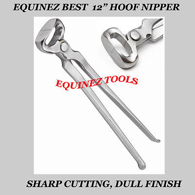 "Hoof Nipper 12"" Vanadium Steel Farrier Tool in Dull Finish"