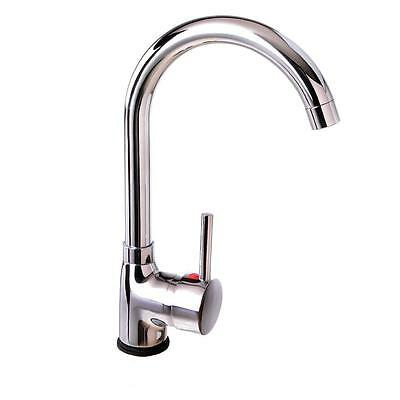 Kitchen laundry Basin Sink Mixer Faucet Tap Swivel Gooseneck Solid Brass Chrome