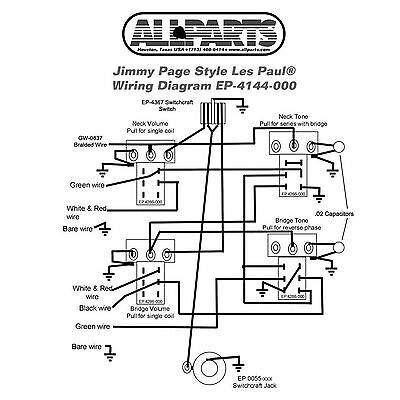 WIRING KIT-Gibson® JIMMY PAGE LES PAUL Complete with Schematic Diagram