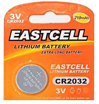 100 x CR2032 EASTCELL 3V Markenbatterien SPARPACK Knopfzelle