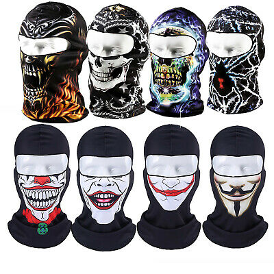 3D Lightweight Cycling Balaclava Full Face Mask Biker Neck Warmer Tube Scarf Cap