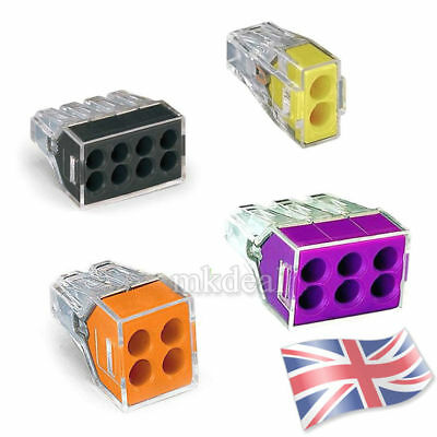 Wago 773-102 173 104 106 108 Electrical Push Connector Wire Cable Block Terminal