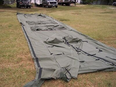 MILITARY TEMPER Tent Center Section With Doors Surplus Not Complete Tent  Army