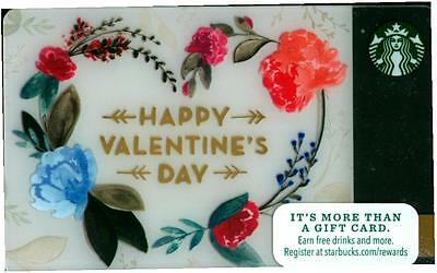Happy Valentine's Day 2016 Starbucks Gift Card BRAND NEW contains no value :)