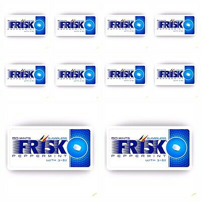 Frisk Kracie: 12 X Peppermint Breath Mints. Free Shipping (Mintia -style)