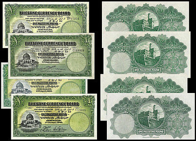 !copy! 3 Palestine Currency Board 1 Pound 1927 1929 1939 Banknotes !not Real!