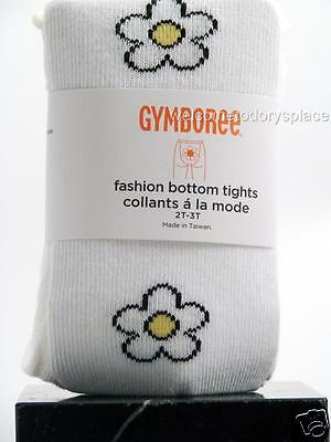 Gymboree BEE CHIC Fashion Bottom White Daisy Tights Toddler Girls 2T 3T NEW NWT