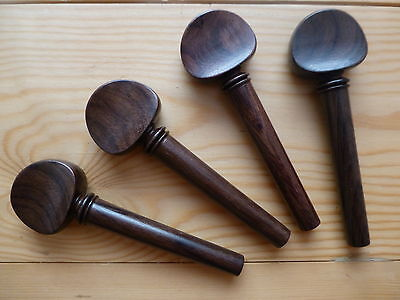Cello Rosewood Pegs, 4 Pieces, Full Size 4/4, Top Quality, Uk Seller!