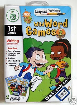 NICK Jr All GROWN UP LEAP FROG LeapPad PlusWriting WILD WORD GAMES 1st gr NEW