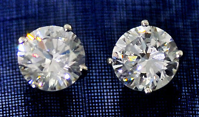 1 ct. Earrings Brilliant Top Russian Quality CZ Moissanite Simulant Solid Silver