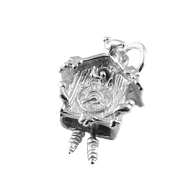 Sterling Silver Moving Cuckoo Clock Charm