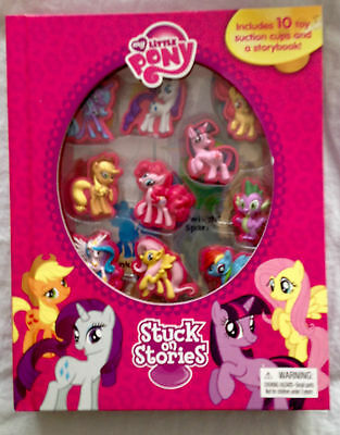 MY LITTLE PONY STUCK ON STORIES & GAMES  WITH 10 SUCKER PONIES cake toppers?BN
