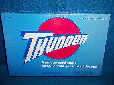 Thunder (1982) - A Unique Card Game Based On Seasons Of Year - New Sealed - Rare