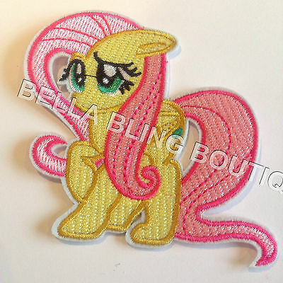 1 Embroidered My Little Pony Fluttershy Iron On Sew On Patch Clothes Craft