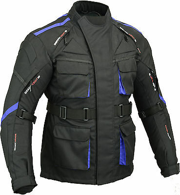 Surfer Motorbike Waterproof Jacket Extra Padded Back & Elbow