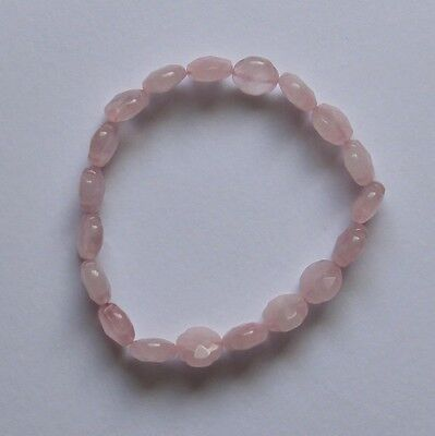 Bracelet Quartz rose pierre de gemme naturelle  de qualité 10x10x5mm