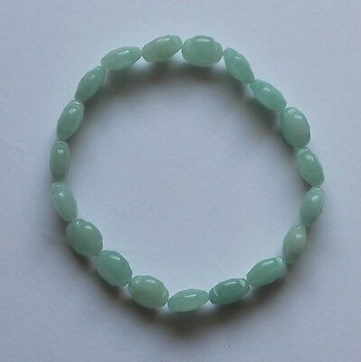 Bracelet Amazonite pierre de gemme naturelle  de qualité 10x10x5mm
