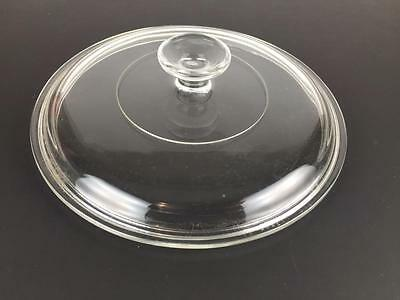 Vintage 8-3/4 Inch Glass Pyrex Replacement Lid G-1-C (0271)