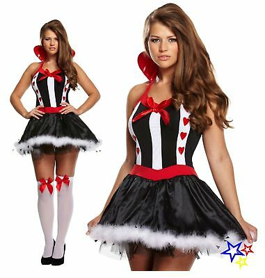 Sexy Queen Of Hearts Fancy Dress Costume - Cosplay Adult Outfit
