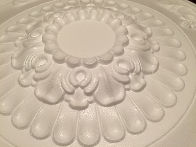 "2 x 68cm (27"") Very Large CLOVER Ceiling Rose Polystyrene  Very Light Weight"