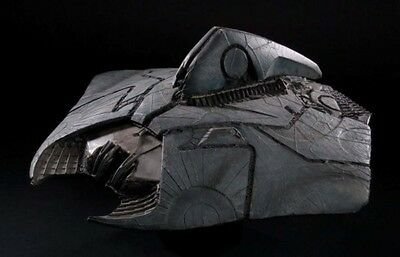 Alien Attacker Independence Day Spacecraft Mahogany Kiln Wood Model Large New