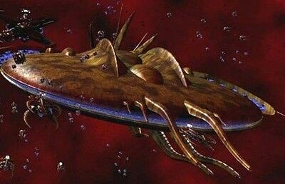 Planet Killer Babylon-5 Vorlon Spacecraft Mahogany Dried Wood Model Large New
