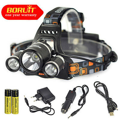 Ultra bright 13000Lm 3xXML T6 LED Headlamp 18650 Headlight Flashlight Head Torch