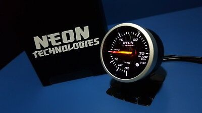 60mm BOOST Gauge Red/White *PSI Turbo Skyline WRX EVO MPS Ford BF CR Diesel 4WD*