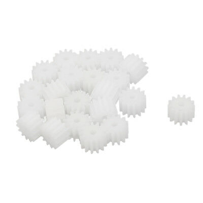 20 Pcs 7.2mmx2mm 13 Teeth Plastic Thick Motor Spindle Spur Gear for DIY Robbot