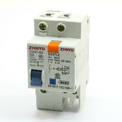 On/Off Switch Dual Pole 63A Circuit Breaker Disconnector DZ47-63