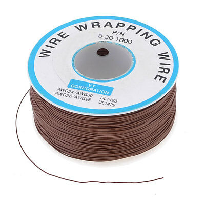 Brown P/N B-30-1000 Insulated PVC Coated Wire Wrapping Wires Reel 250M