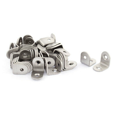 Stainless Steel Corner Brace Joint Angle Support Fixing Brackets 20 x 20mm 50pcs