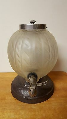 Vintage 1930's Orange Crush Soda Dispenser Frosted Globe