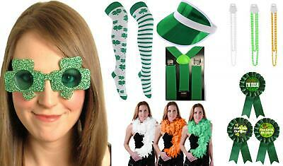 Irish Party Essentials Sunglasses Necklace Make Glitter Dress Football Paddy