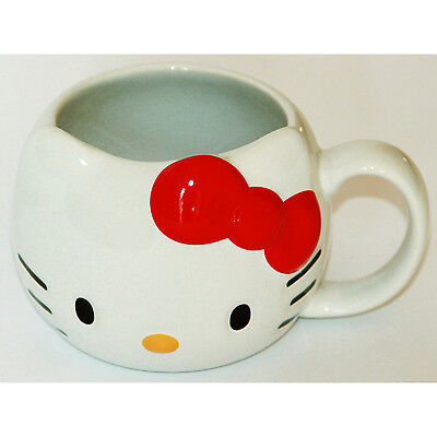 Tazza Hello Kitty 3D Ceramica Sanrio Original 8,5x13 Cm