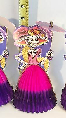Lot Of 5 !! Table Decoration ! Catrina  Day Of The Dead  Must See! Great Deal !