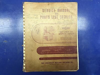 Cincinnati Service Manual & Parts list Four spindle automatic profiler M-2006