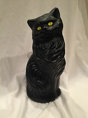"NEW 17"" BLACK CAT Halloween Decor, BLOW MOLD PLASTIC, Union Products, FREE SHIP"