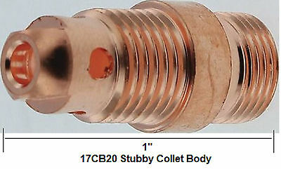 Tig Welding Collet Body 17CB20  Tig Torch Collet Body Stubby  WP9 WP20 Pack of 5
