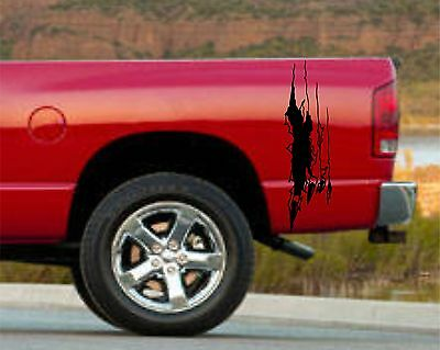 """VINYL GRAPHICS DECAL STICKER CAR BOAT AUTO TRUCK 80/"""" 5RIP-21 Ripped Skull w//Claw"""