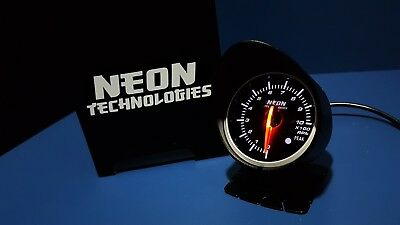"60mm RPM / TACHO Gauge *Universal Red White 2.5"" Meter V8 Turbo WRX Skyline 4WD*"