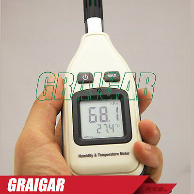 GM1362 Humidity and Temperature meter digital Hygrometer Thermometer  w /LCD Bac