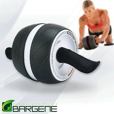 Fitness Ab Carver Pro Exercise Wheel Roller Six Pack Abs Workout Home Gym Whi