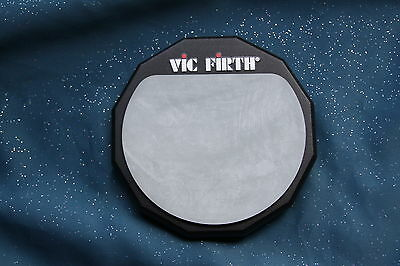 Vic Firth 6 Inch Single Sided Drum Practice Pad with 8mm Threaded Mount, PAD6