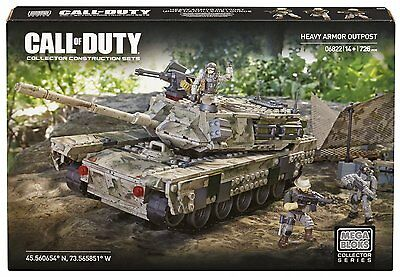 Call of Duty Mega Bloks Heavy Armor Outpost Collector Series Set 06822 - NEW