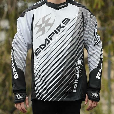 Empire 2014 Contact Zero FT Paintball Jersey Shirt - Home - Black/White/Grey