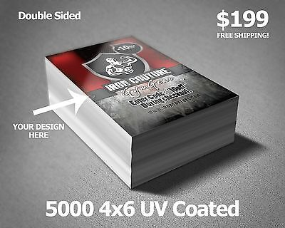 5000 4 x 6 Club flyer uv coated *Double Sided*  Full Color Printing 02