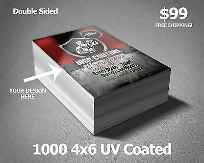 1000 4 x 6 Club flyer uv coated *Double Sided*  Full Color Printing 03